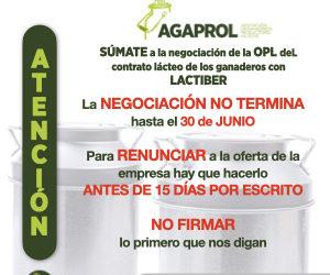 Agaprol recomienda a los ganaderos de Lactiber no firmar los contratos hasta conocer la evolución del mercado
